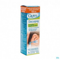 Quies Docuspray Oorhygiene Z/drijfgas Spray 100ml