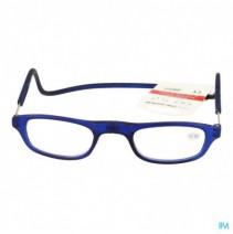 Clipyreader Bril +2.50 Blauw,Clipyreader Bril +2.5