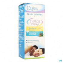 Quies A/snurken Bipack Spray Neus 15ml + Mond 70ml