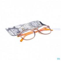 Pharmaglasses Leesbril Comp. +4.00 Brown/orange
