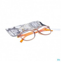 Pharmaglasses Leesbril Comp. +4.00 Brown/orange