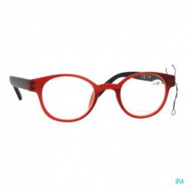 Pharmaglasses Leesbril Round +1.00 Red/black,Pharm