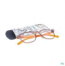 Pharmaglasses Leesbril Comp. +2.00 Brown/orange