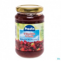 Prodia Jam 4 Vruchten + Fructose 370g 6095,Prodia